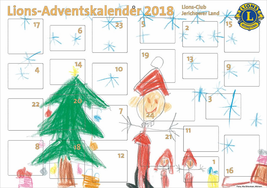 Lions Club Weihnachtskalender.Adventskalender 2018 Lions Club Jerichower Land